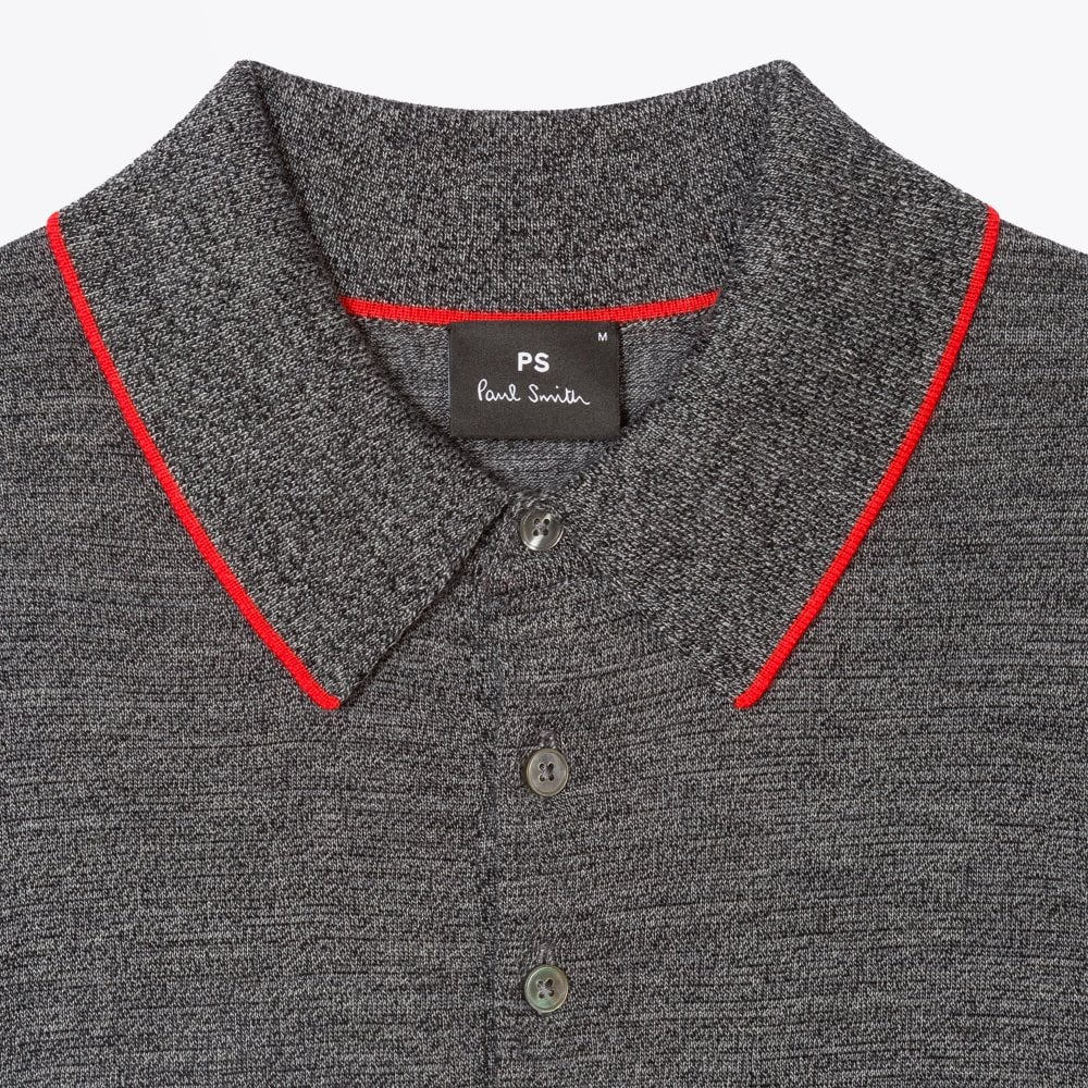 Display of Paul Smith grey merino polo