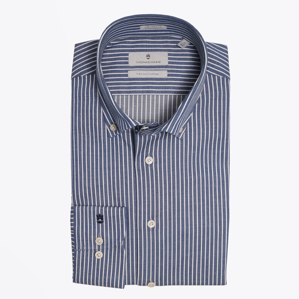 Display of Thomas Maine pinstripe shirt