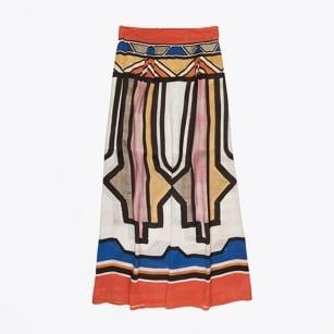 | Boho Printed Maxi Skirt - Caramel