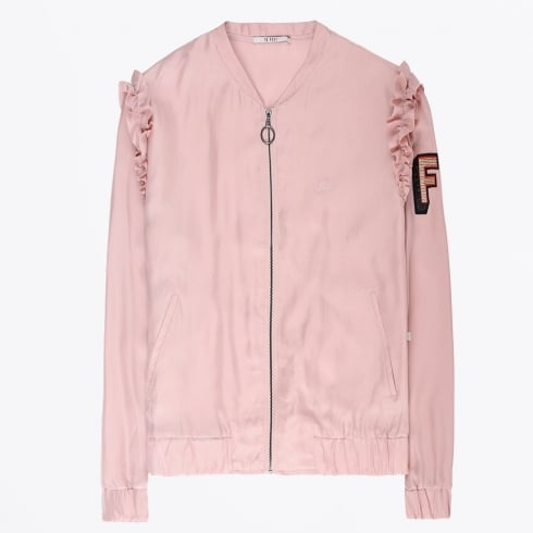 10 Feet - Bomber Jacket With Ruffles - Rose