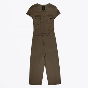 | Pigment Dyed Safari Jumpsuit - Army