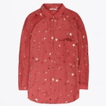 - Star Print Shirt - Rouge