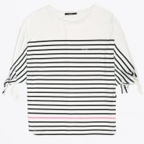 - Striped Modal T-shirt