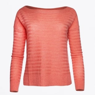 | Amy - Unstructured Rib Knit - Peached