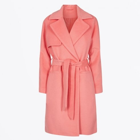 2nd Day - Belted Wool Coat - Peach