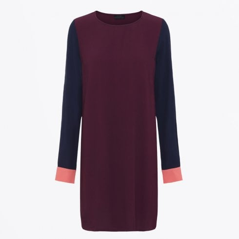 2nd Day - Phyllis - Contrast Shift Dress - Wine