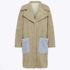 - Tekla Teddy Coat - Bone White