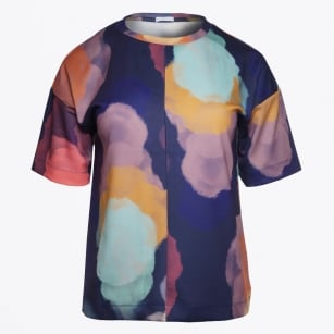 | Tria Printed Tee - Navy Blue