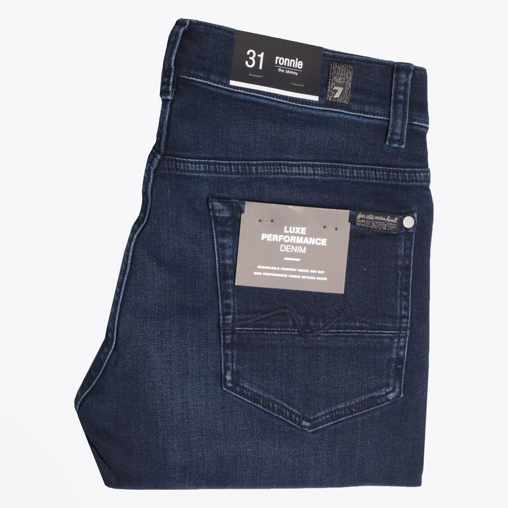 4364c45b 7 For All Mankind - Ronnie Performance Jeans - Blue - Mr & Mrs Stitch