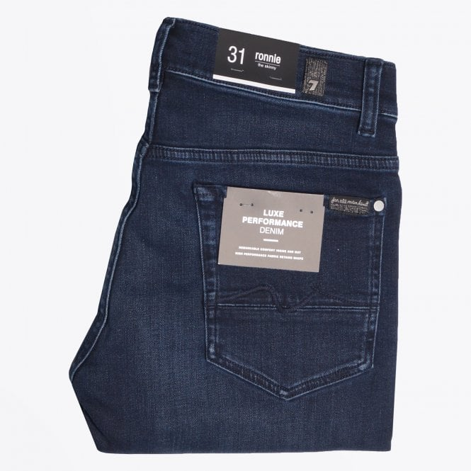7 For All Mankind - Ronnie Luxe Performance Rinse Jeans - Dark Blue