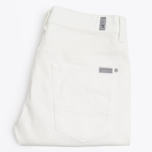 7 For All Mankind | Ronnie Skinny Rinse Jeans - White