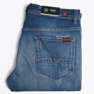 | Ronnie Vintage Rip & Repair Jeans - Washed Den