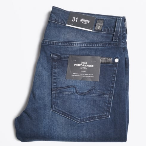 7 For All Mankind - Slimmy Luxe Performance Huntley Jeans - Dark Blue
