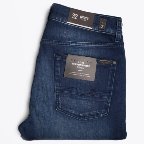 7 For All Mankind - Slimmy Luxe Performance Jeans - Bright Blue