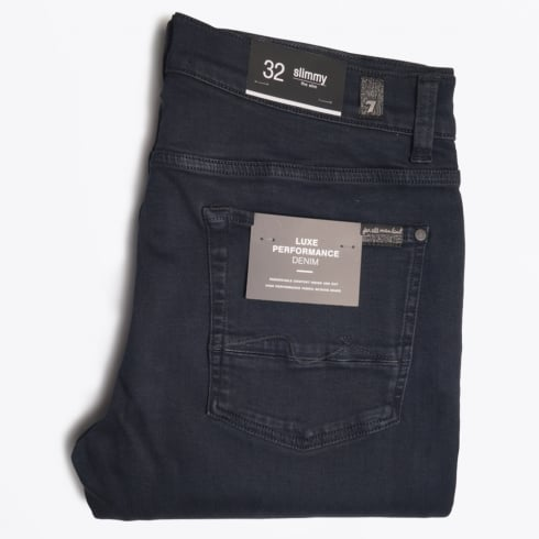 7 For All Mankind - Slimmy Luxe Performance Rinse Jeans - Blue/Black