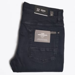 - Slimmy Luxe Performance Rinse Jeans - Blue/Black