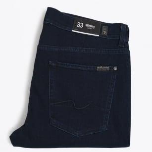 | Slimmy Luxe Performance Tonal Jeans - Dark Blue