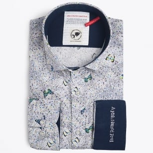 | Colourful Butterfly Print Shirt - Multi