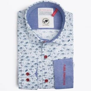 | Fish Print Shirt - Navy