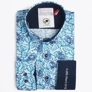 | Floral Print Shirt - Aqua
