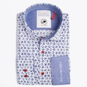 | Splash Print Shirt - Blue