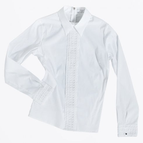 A-line - Janis Lace Deco Shirt - White
