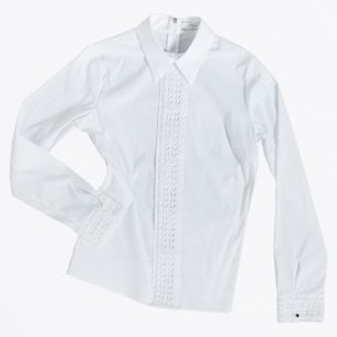 - Janis Lace Deco Shirt - White