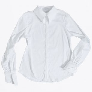 - Swallow Winged Collar Shirt - White