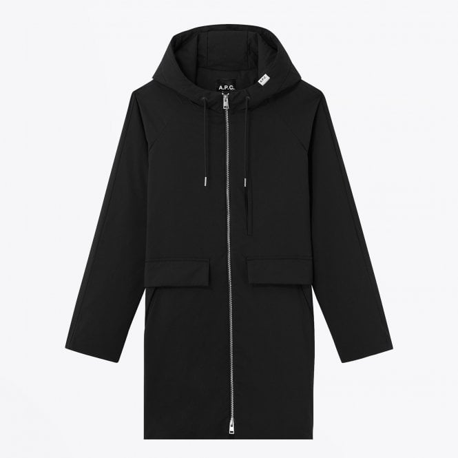 - Quilted Technical Parka Coat - Black