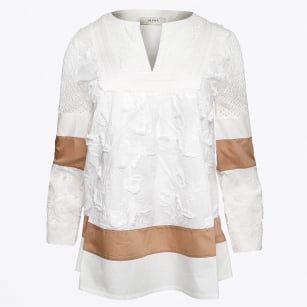 | Embroidered Top - Latte