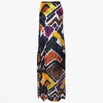 - Printed Maxi Dress - Multi
