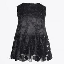 - Sleeveless Lace Top - Black