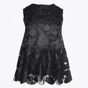 | Sleeveless Lace Top - Black