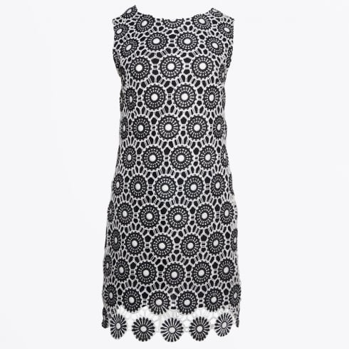 Ana Alcazar - Crochet Lace Dress - Black/White