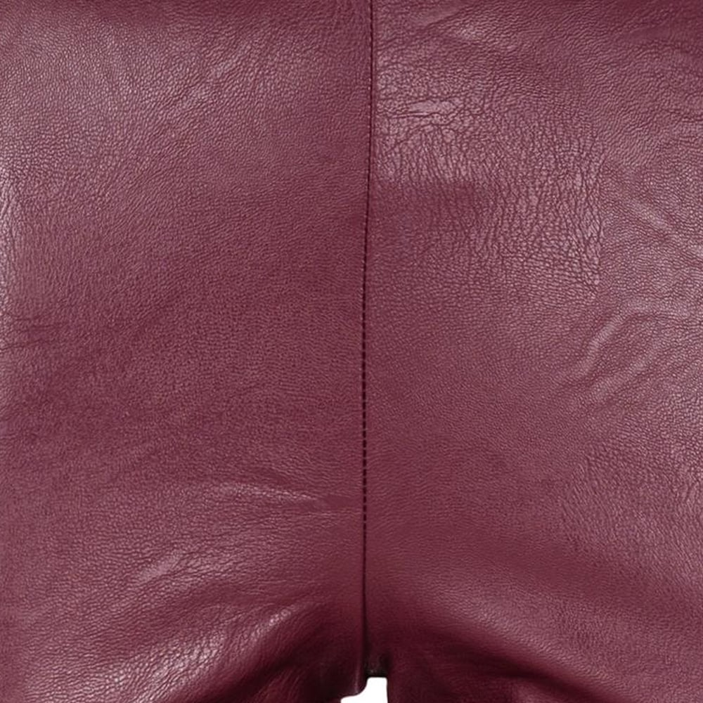 doralis leather optic trousers burgundy ladies pants ana alcazar. Black Bedroom Furniture Sets. Home Design Ideas