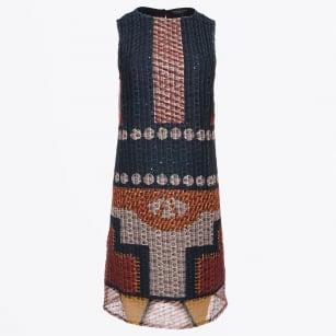 | Sleeveless Tribal Print Dress - Multi