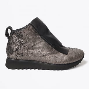 - Sequin High Top Trainer