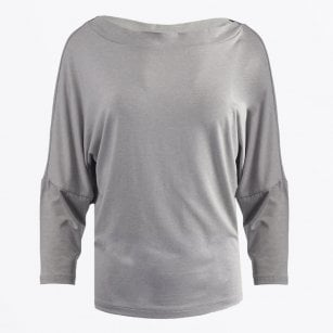 - Slash Neck Top - Grey