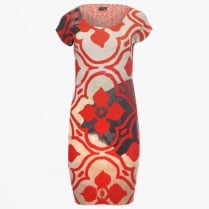 - Abstract Cap Sleeved Reversible Dress