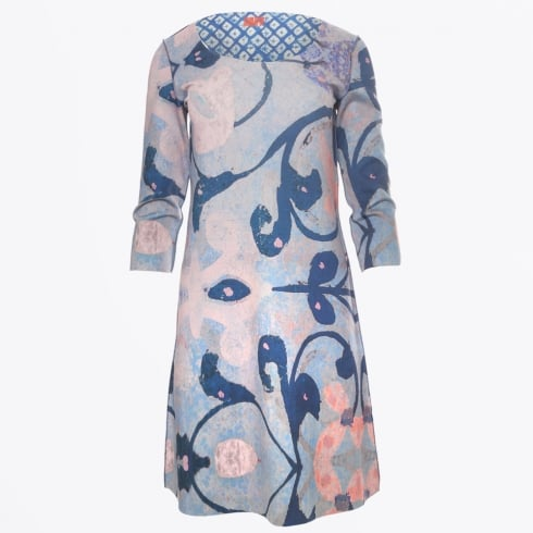 Animapop - Abstract Floral Long Sleeve Reversible Dress