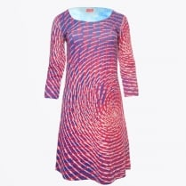 - Cyclone Long Sleeve Reversible Dress - Multi