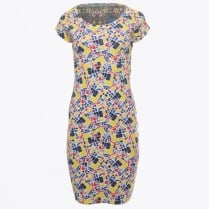 - Floral Abstract Cap Sleeve Reversible Dress