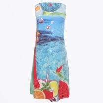 - Ice Cream A-Line Sleeveless Dress