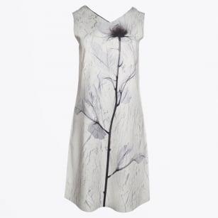 | Reversible V Front & Back A-Line Dress - Grey