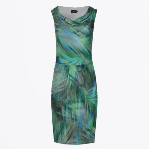 Ariana - Leaf Print Dress - Green