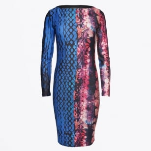 - Printed Dress - Blue/Red
