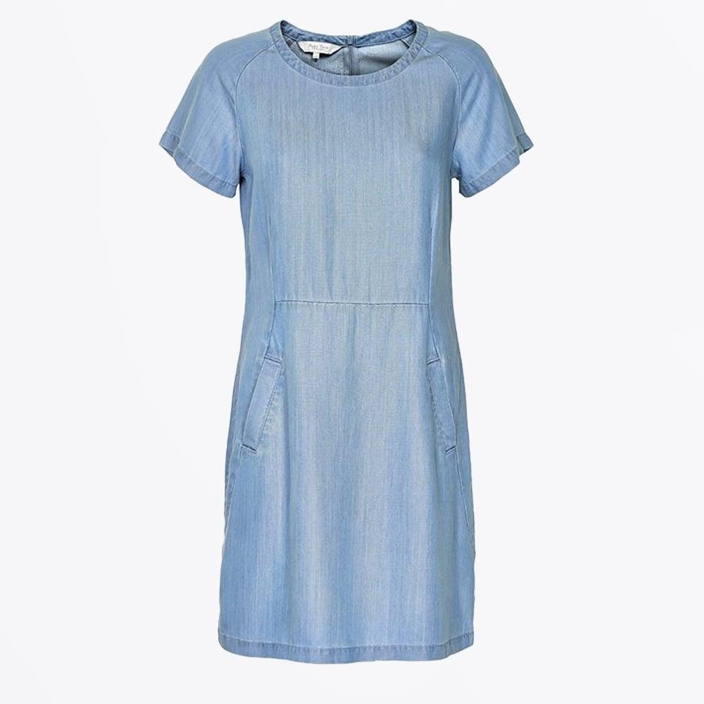58181bb31d5 Part Two - Aundreas Denim Shift Dress - Light Blue - Mr   Mrs Stitch