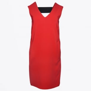 | Caracus V Neck Sleeveless Dress With Back Detail - Red