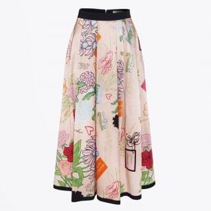 | Printed Skirt - Pink