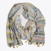 - Modal Tassel Watercolour Scarf